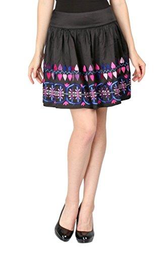 - Aaliya Women's Polyester Crepe Mini Casual Skirt X-Large Black