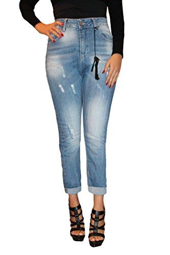 Look Moda Taglia Deep Blu 42 Sport Donna 44 Estate Comodi Stile Strappati Hanny Jeans Passeggiata Z0gq7nqY