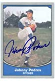Johnny Podres autographed Baseball Card (Los Angeles Dodgers) 1990 Pacific Baseball Legends Card