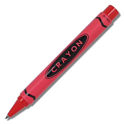 ACME Studios Crayon - Red Retractable Roller Ball Pen by Adrian Olabuenaga - Ball Roller Acme Pen Crayon