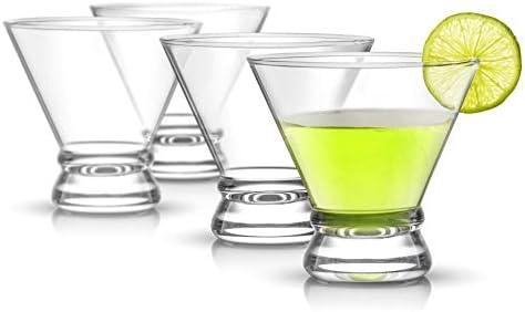 JoyJolt 4-Piece Afina Cocktail Glasses Set, Martini Glasses- 8-Ounces