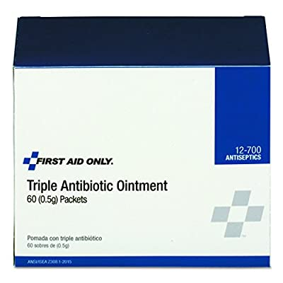 Pac-Kit by First Aid Only 12-700 First Aid Triple Antibiotic Ointment (Box of 60) by Pac-Kit