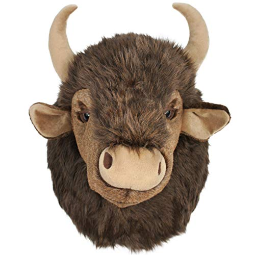 VIAHART Brillo The Bison | 15 Inch Stuffed Animal Plush Buffalo Head Trophy Wall Mount Bust | Shipping from Texas | by Tiger Tale Toys ()