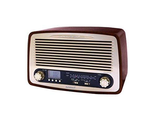 Sunstech-RPR4000WD-Radio-de-sobremesa-3-W-RMS-AMFM-USB-diseo-retro-de-madera