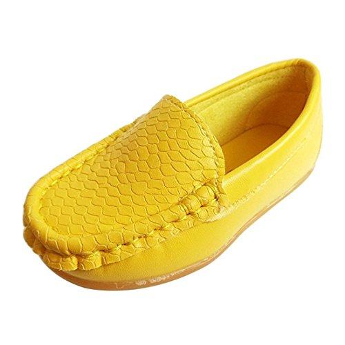 VIFUUR Jungen Loaferschuhe Gelb