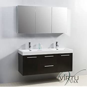 54 inch double sink vanity. Virtu USA JD 50154 WG 54 Inch Midori Double Sink Bathroom Vanity  GW