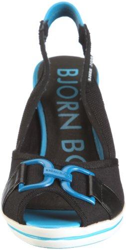 Björn Borg Footwear Hillyard Hillyard 01 - Sandalias de vestir de tela para mujer Negro
