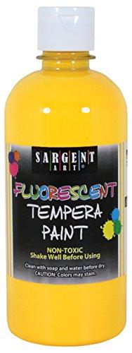 - Sargent Art 17-5702 16 oz Yellow Fluorescent Tempera Paint