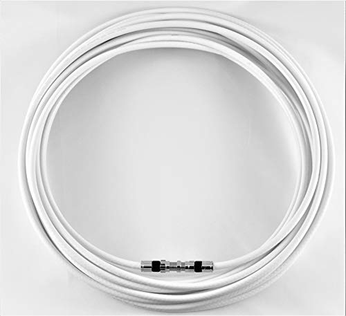 - 25ft White RG6 Digital Coaxial Cable Shielded PVC Jacket Rated UL ETL CATV RoHS 75 Ohm RG6 Digital Audio Video Coaxial Cable with Premium Continuous (25ft)