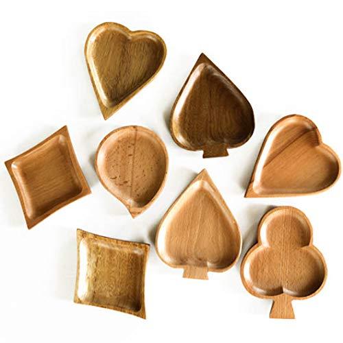 Heart Spade Club Ann Lee Design Set of 4 Wooden Card Suit Tray Diamond