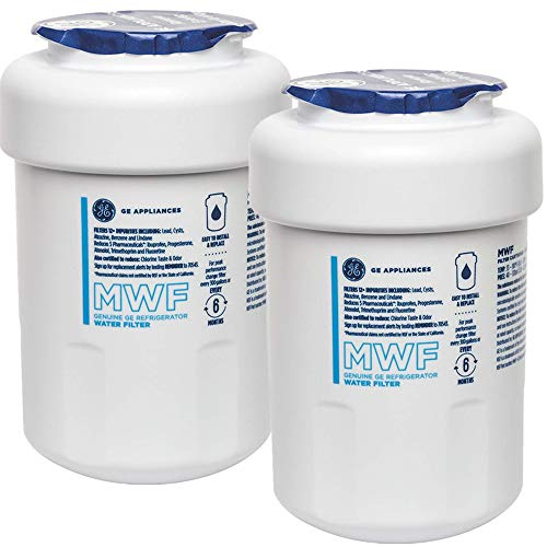 GЕ Genuine MWF Refrigerator Water Filter, Compatible with GE SmartWater MWF, MWFINT, MWFP, MWFA, GWF, HDX FMG-1, WFC1201, RWF1060, Kenmore 9991, r-9991, NSF 42,(2-Pack)