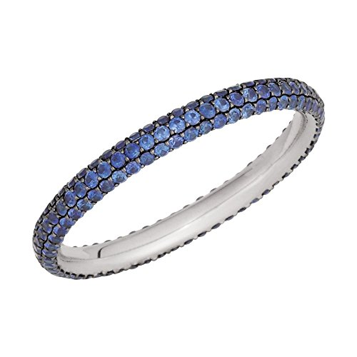 - Security Jewelers Pavà Eternity Band, 14kt White Gold, Ring Size 4.5