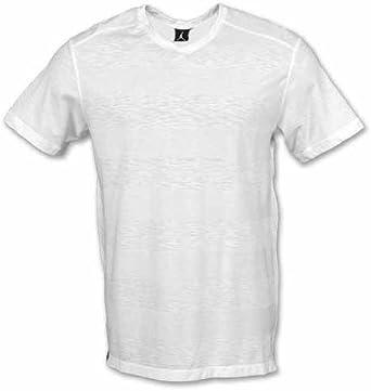 Nike Blanc 414063 100 de T Shirt de V Cou de Coupe de