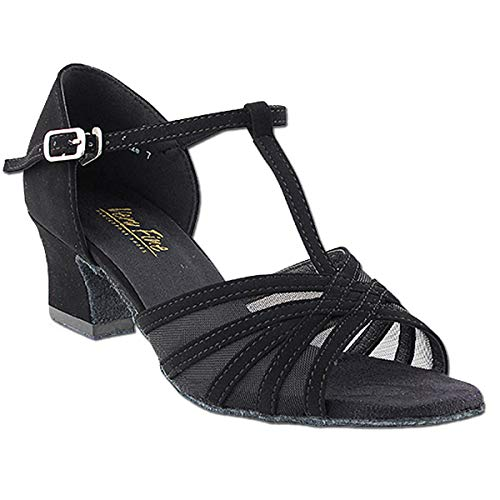 Women's Ballroom Dance Shoes Salsa Latin Practice Dance Shoes Black Nubuck & Black Mesh 16612EB Comfortable - Very Fine 2