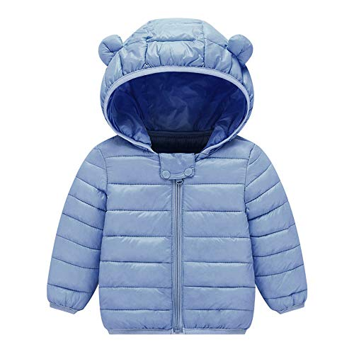 Phat For Baby Coats Girls (VEKDONE Winter Coats Kids Ear Hoods Light Puffer Jacket Baby Boys Girls, Infants, Toddlers)