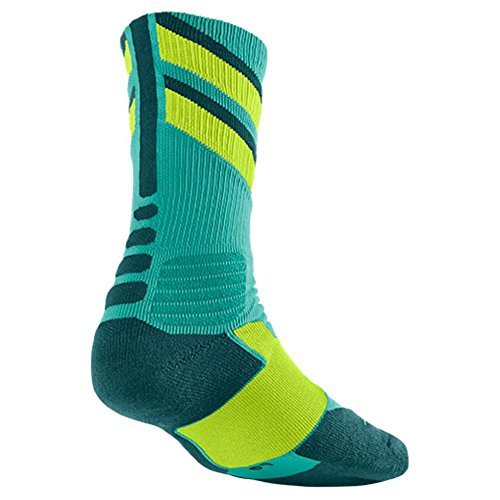 Nike Women's Hyper Elite Chase Basketball Crew Socks Small (Size 4-6) Retro, Volt Sx4923-433