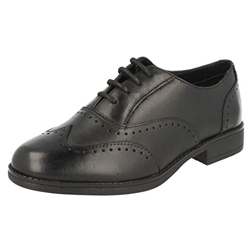 Clarks Sami Fizz Junior Girls School Schuh aus schwarzem Leder Black Leather 13 F