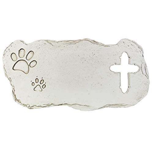 White Cross Personalized Dog Memorial Stones Customized Pet Memorial Stones Grave Markers - All Content is Customizable ()
