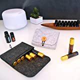 HAYA Essential Oil Carrying Case bag for 6 Bottles, 5-15ML Essential Oils Travel Organizer Storage Pouch Bag
