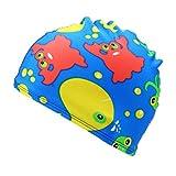 Koolsants Kids Swim Cap for Girls and Boys, Cartoon Print Swim Waterproof Swimming Cap Sports Hat Suit for 2-6 Years Old Baby