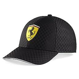 Ferrari Black Racing Check Hat