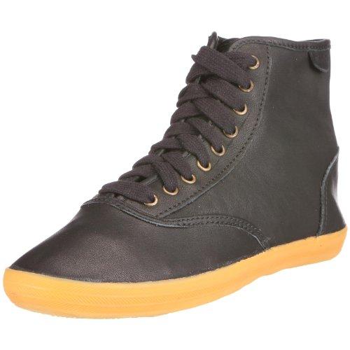 Keds Wh36180 Femmes Champion Salut Sneaker En Cuir Souple, Noir