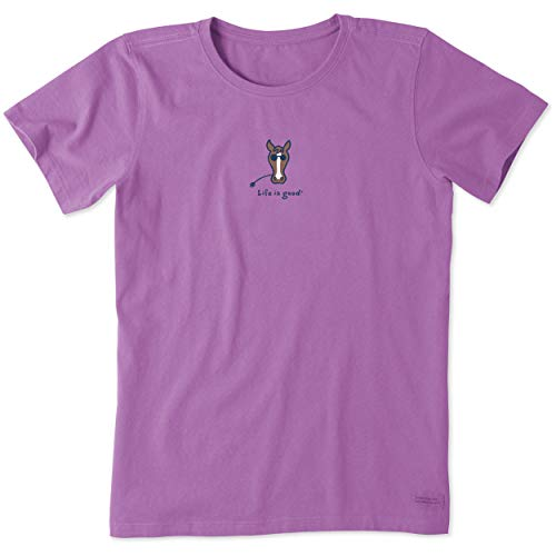 (Life is Good Women's Horse Vintage Crusher Tee, Happy Grape, S)