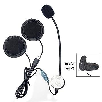 Accesorio para sistemas de comunicación mediante auricular para casco de motocicleta, con clip