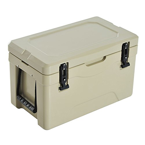 (Outsunny 32 Quart Rotomolded Outdoor Portable Camping Cooler and Ice Chest Box)