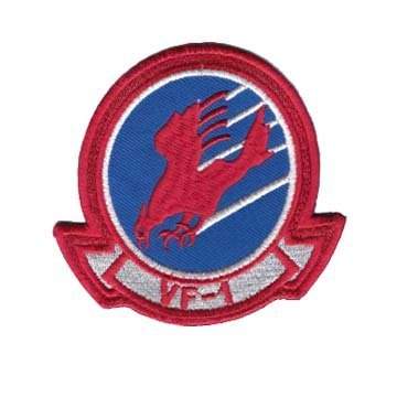 Top Gun VF-1 Squadron Logo EMBROIDERED PATCH Badge Iron On - Sew On 4