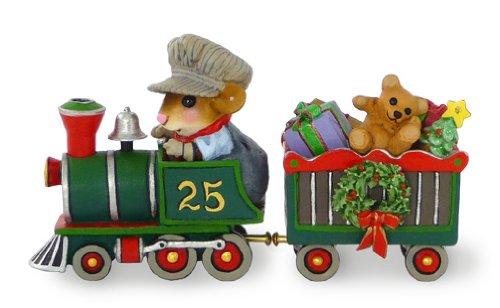 Wee Forest Folk Christmas Box Car Figurine