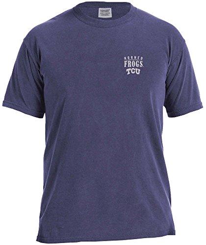 NCAA TCU Horned Frogs Adult Unisex NCAA Limited Edition Comfort Color Short sleeve T-Shirt,Medium,Grape