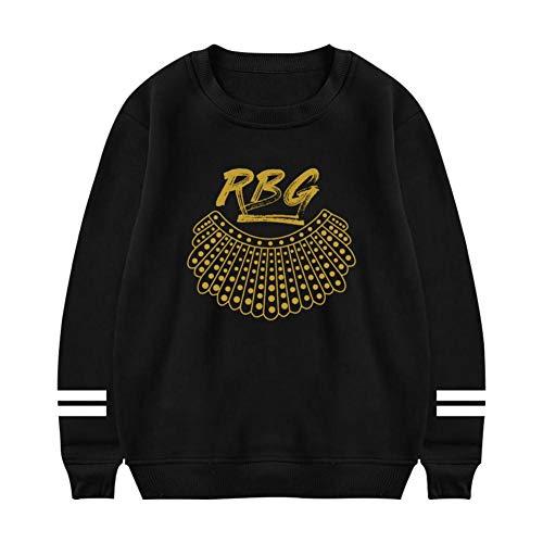 Heiazha Womens Print Sweatshirts,Funny Casual Notorious RBG (Ru-th B-ader Gins-Burg) Plush Hipster Long Sleeves Hoodies S -