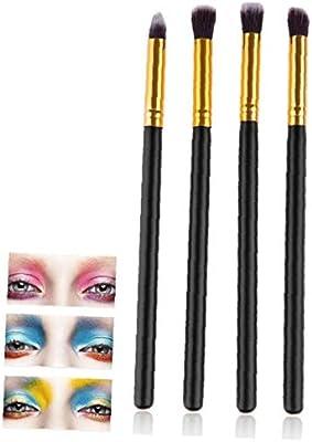 Brocha Ahumado Sombra De Ojos Cepillos Del Maquillaje Contour Kit Para 4pcs Sombreado Blending Crema En Polvo Highlighter: Amazon.es: Belleza