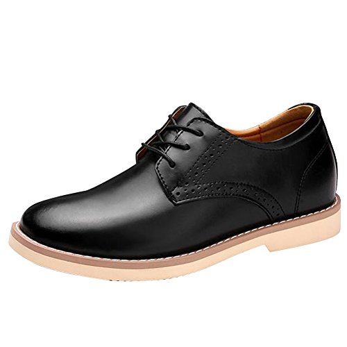 Charm Foot Mens Formal Business Low Heel Lace Up Derbies Shoes Black sfuROTQf