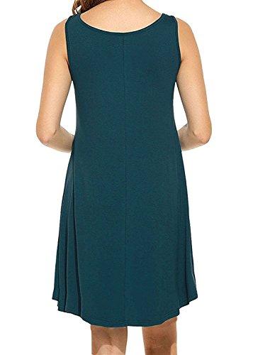 Viishow Simple Simple Occasionnel Des Femmes T-shirt Robe Lâche 1dark Vert