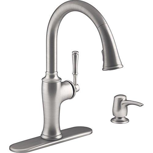 KOHLER Cardale Vibrant Stainless 1-Handle Pull-Down Kitchen Faucet-Model # R72247-SD-VS