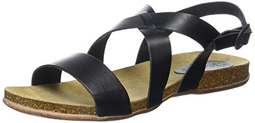Sandales noir Noir Femme Anaday Bout Kickers Ouvert 1Hw4wv