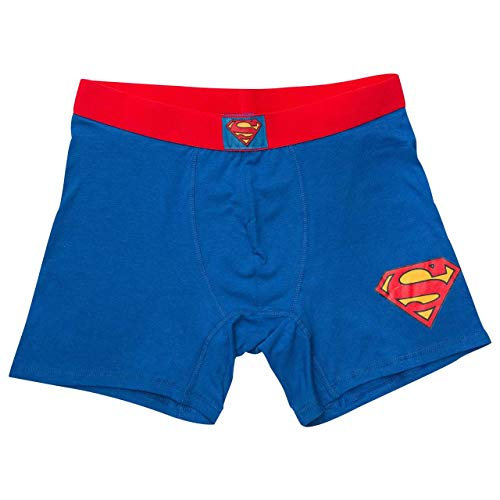 Superman Classic Men's Underwear Boxer Briefs- Large (36-38) ()