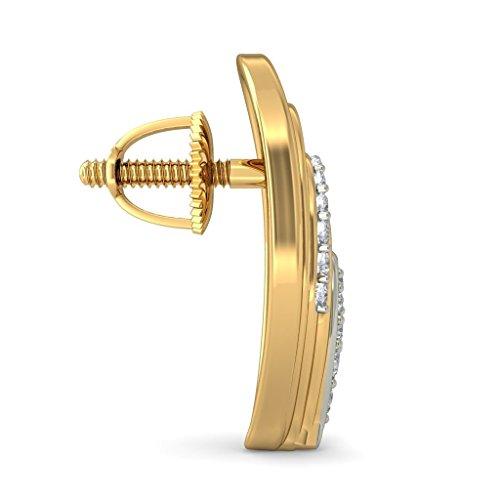Or jaune 18K 0.25CT TW White-diamond (IJ | SI) Boucles d'oreille à tige