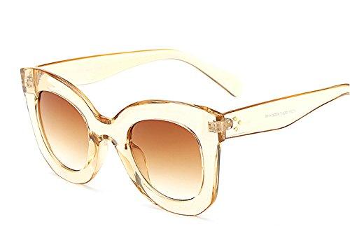 Orange Gradient Frames - Butterfly Sunglasses Semi Cat Eye Glasses Plastic Frame Clear Gradient Lenses (Orange, 45MM)