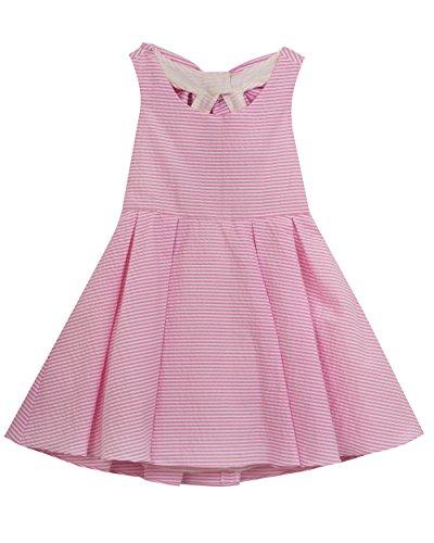 Rare Editions Baby Girls' Fit and Flare Seersucker Dress, Pink, (Pink Seersucker Dress)