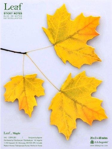 Free b.b.begonia Leaf_ Maple Sticky Notes, Yellow, Large