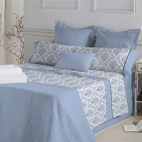 Don Algodón.- Juego de sábanas Anouk color Azul para cama de 180 ...