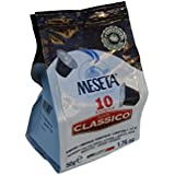 Nespresso Compatible 80 Classico Meseta Capsules Italian Espresso. Select combination of Arabica beans grown in the plateaus of Brazil and prized Robusta beans from India and Africa . Intensity 9