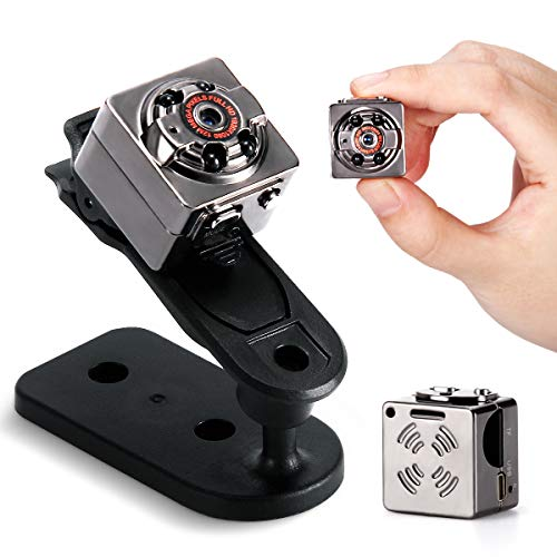 Mini Spy Camera, Wireless Hidden Camera 1080P Portable Action Camera with Motion Detection and Night Vision Covert Surveillance Nanny Cam for Indoor and Outdoor