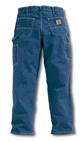 Carhartt Men's Washed Denim Original Fit Work Dungaree B13,Darkstone,38 x 30 by Carhartt
