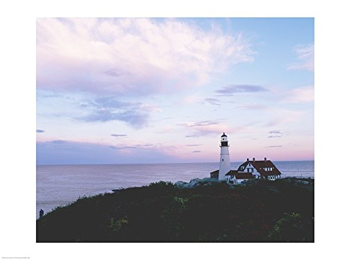 Portland Head Lighthouse Cape Elizabeth Maine USA Art Print, 16 x 12 - Elizabeth Lighthouse Cape