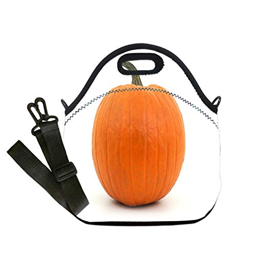 Insulated Lunch Bag, Reusable Outdoor Travel Picnic School orange pumpkin on white background for halloween or thanksgiving custom Stylish Lunch Bag, Multi-use for Men, Women and Kids]()
