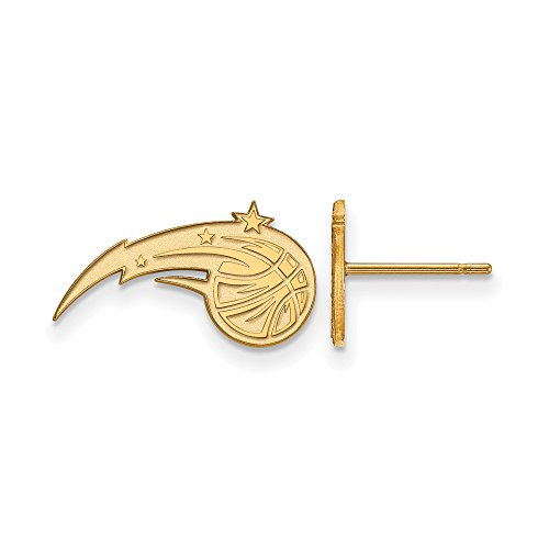 NBA Orlando Magic X-Small Post Earrings in 10K Yellow Gold by LogoArt